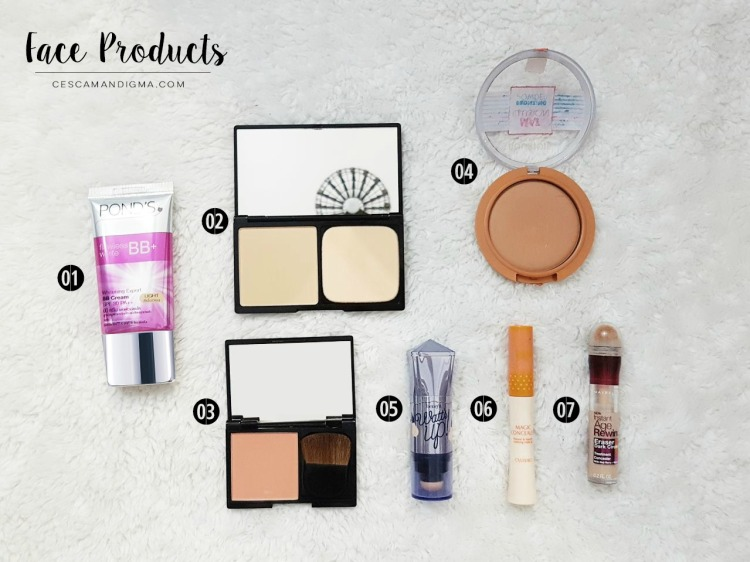 Whats in my makeup bag OCT 2017 Face Products.jpg